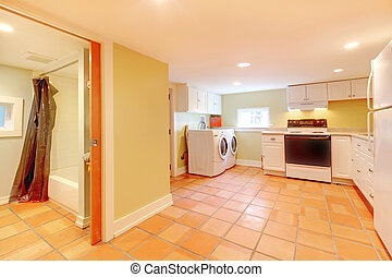 Basement rental apartment with ceramic titles