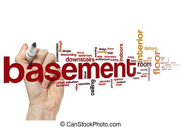 Basement word cloud