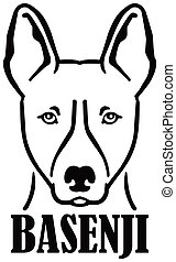 Basenji head with name