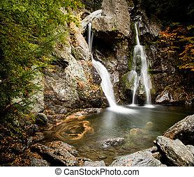 Bash Bish falls in Berkshires - Bish Bash Falls in...