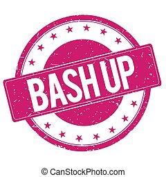 BASH-UP stamp sign magenta pink