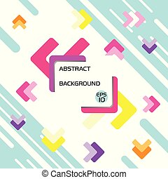 Basic abstract background design with geometric shapes in center
