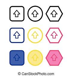 Basic arrow sign icon