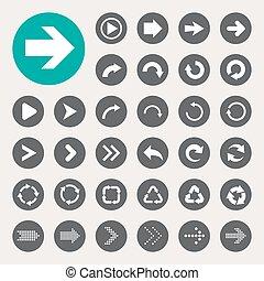 Basic arrow sign icons set. Illustrator eps10