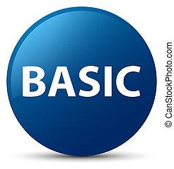 Basic blue round button