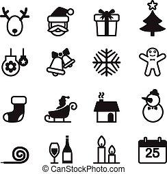 Basic Christmas icons Set
