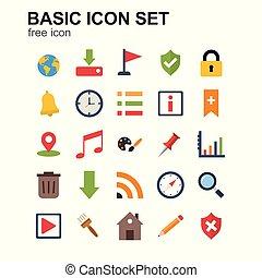 BASIC coloured  icons set