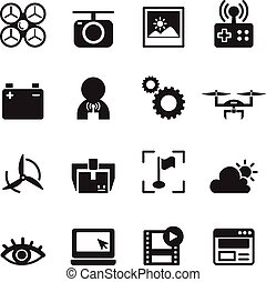 Basic Drone icons Vector illustration.