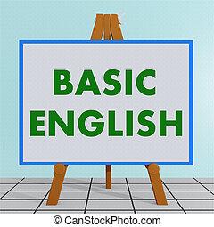 Basic English concept - 3D illustration of BASIC ENGLISH...