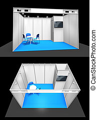 Basic exhibition booth stand