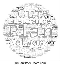 Basic Facts About Health Insurance Policies In A Bad Economy text background word cloud concept