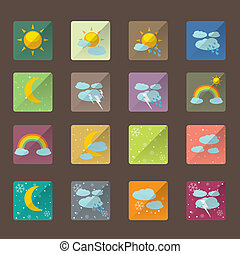 Basic Flat icon set for Web and Mobile Application