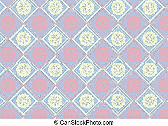 Basic Flower retro seamless pattern