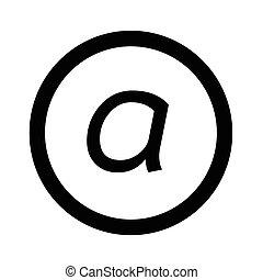 Basic font letter a icon Illustration design