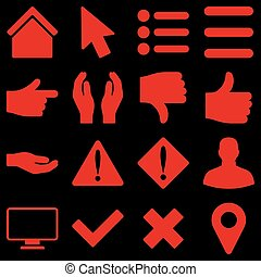 Basic gesture and sign icons