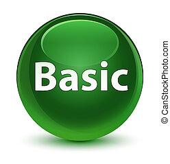 Basic glassy soft green round button
