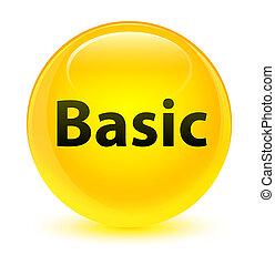 Basic glassy yellow round button