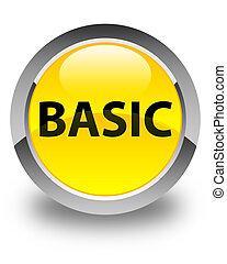 Basic glossy yellow round button