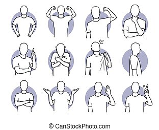 Basic human actions and body languages.