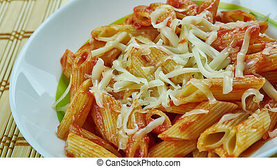 Basic Parmesan Pomodoro - Best Pasta penne close up