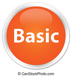 Basic premium orange round button