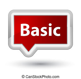 Basic prime red banner button
