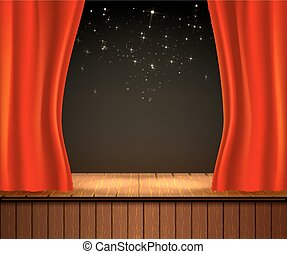 Basic RGB - Background with theater stage. Banner for your ...
