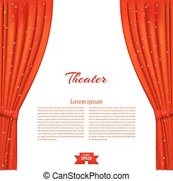 Basic RGB - Banner with theater stage and red theater ...