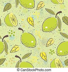 Basic RGB - Seamless Pattern with green lime. Scandinavian ...