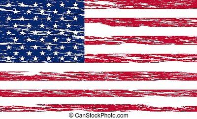 Basic RGB - United States national flag with grunge effect
