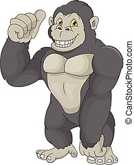 Basic RGB - vector illustration of baby gorilla cartoon