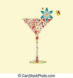 Vector picture with cocktail drink