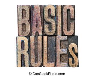 basic rules isolated