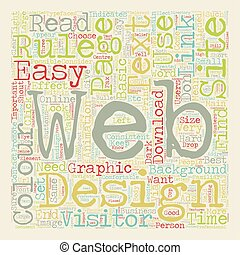 Basic Rules of Web Design text background wordcloud concept