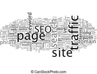 Basic SEO Wisdom text background wordcloud concept