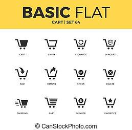 Basic set of cart icons