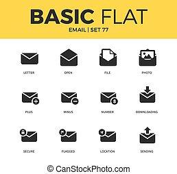 Basic set of email icons