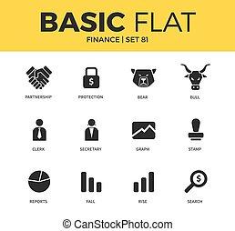 Basic set of Finance icons
