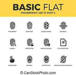Basic set of Fingerprint icons - Basic set of file...
