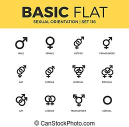 Basic set of Sexual orientation icons - Basic set of...