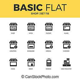 Basic set of Shop icons