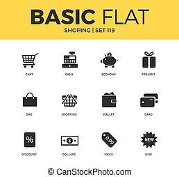 Basic set of Shopping icons