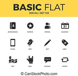 Basic set of Social icons