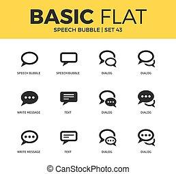 Basic set of Speech bubble icons