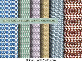 Basic Shape Wire Mesh Seamless Patt