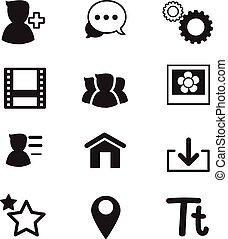 basic Social Network icons