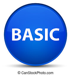 Basic special blue round button
