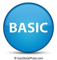 Basic special cyan blue round button