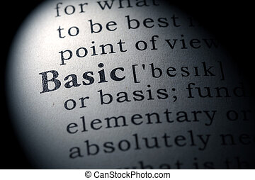basic - Fake Dictionary, Dictionary definition of the word...