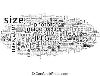 Basic Web Design Principles text background wordcloud concept